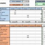 Formato De Control De Gastos Personales En Excel