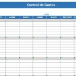 Formato De Control De Gastos Personales Mensuales En Excel
