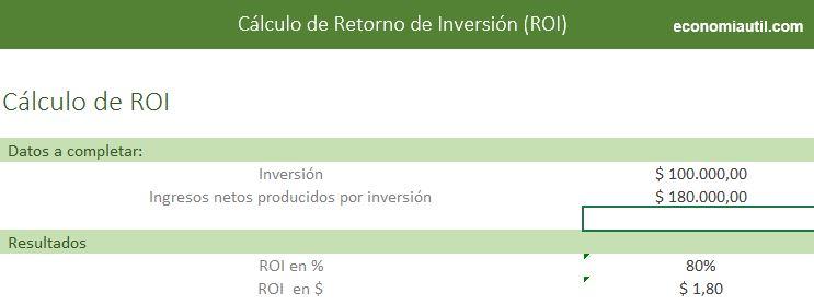 Formato Para Calcular ROI En Excel